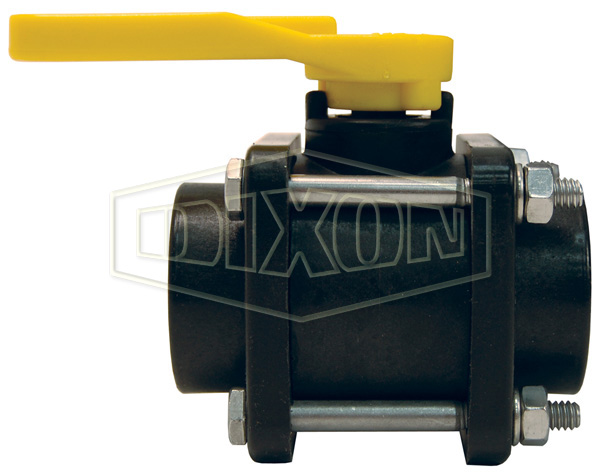 Polypropylene 4-Bolt Ball Valve