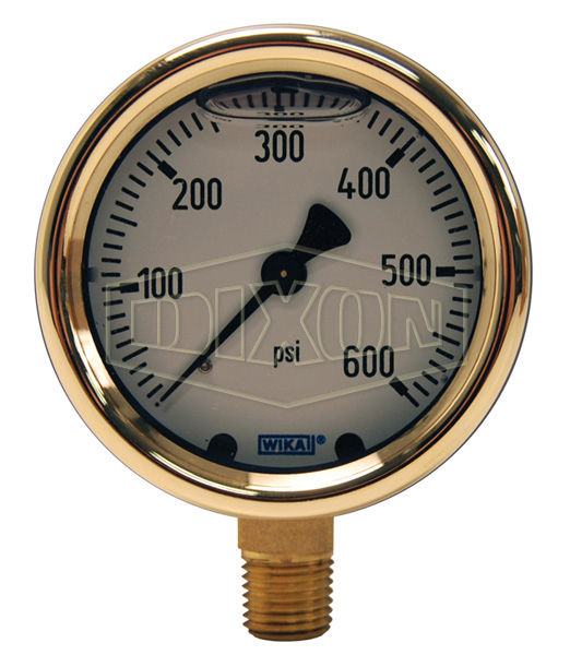 Brass Liquid Filled Gauge Lower Mount