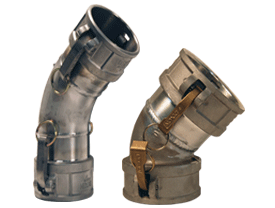 Dixon® Type DD 45° Elbow Coupler x Coupler