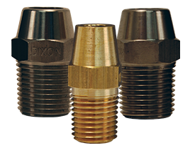 Dixon® Hex Nipple for Welding to Metal Hose