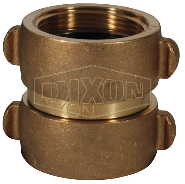 Double Female Swivel Rocker Lug Brass