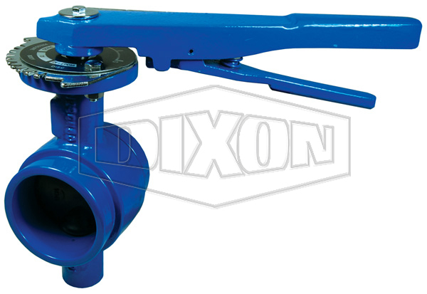 Grooved End Iron Butterfly Valve