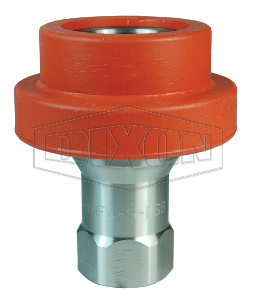 DQC H-Series ISO-B Food Grade Silicone Flanged Female Threaded Coupler