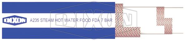 A235 Blue 7 Bar Steam, Hot Water & Food Hose