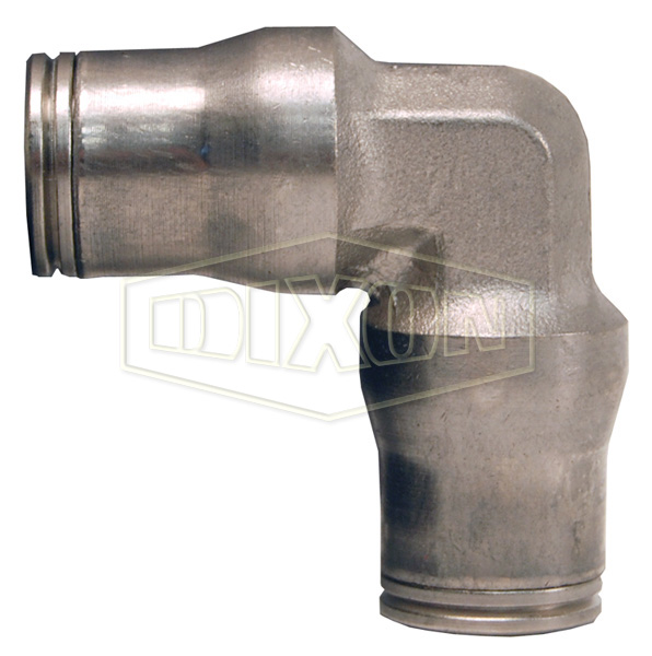Nickel-Plated Brass Legris Push-In Union Elbow