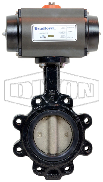 Pneumatically Actuated Lug Butterfly Valve
