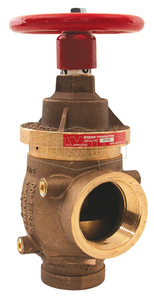 Factory Set Pressure Reducing Brass Angle Valve Grooved x Female