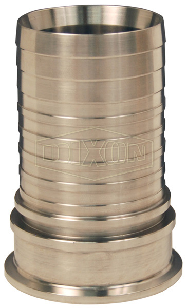 Dixon® Sanitary Style Crimp Stem Clamp End x Hose Shank