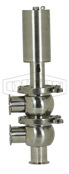 SV-Series Single Seat Hygienic Valve F Body Pneumatic Actuator Spring Return Air to Raise
