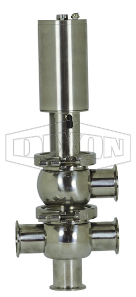 SV-Series Single Seat Hygienic Valve L/T Body Pneumatic Actuator Spring Return Air to Lower