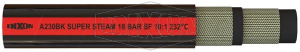 A230BK 18 Bar Black Super Steam Hose