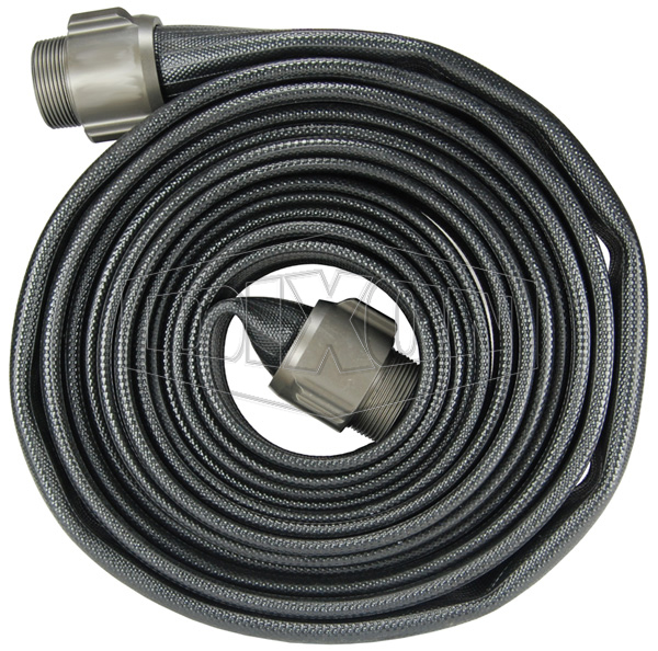 nitrile washdown hose coupled with mnpt x mnpt male expansion ring coulpler