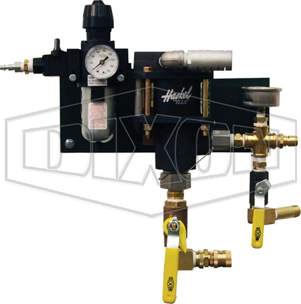 testing equipment hydrostatic test pump wall mount