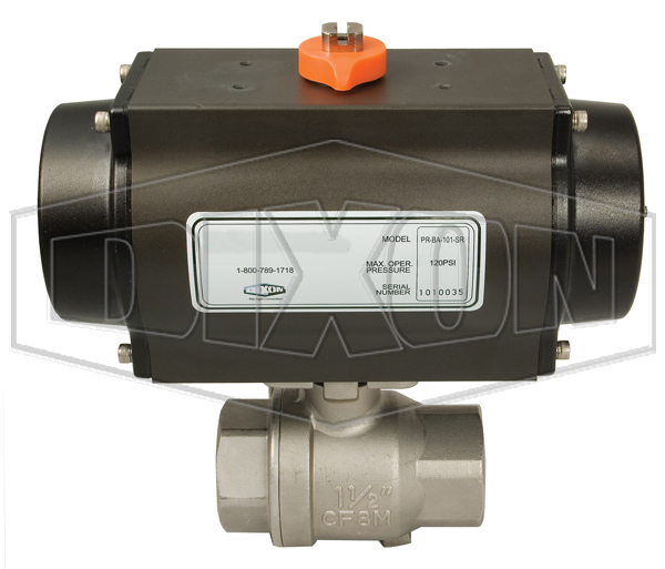 Pneumatically Actuated Stainless Steel Ball Valves 2-Piece