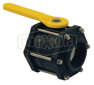 Polypropylene 8-Bolt Ball Valve