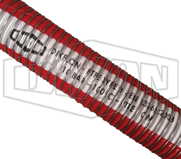 DIXFLON A911SS 14 Bar Composite PTFE Chemical Hose Assembly