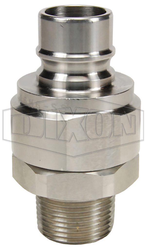 v series hydraulic couplings quick disconnects hydraulic fittings snap tite h ih interchange valved male threaded plug stainless steel